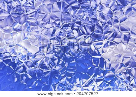 Blue Mosaic pattern as abstract background.Futuristic background.Digitally generated image.