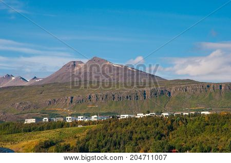 Mountain Sulur In North Iceland