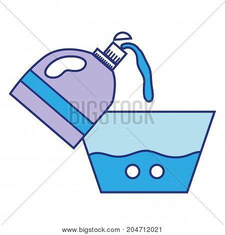 water pail design with softener bottle plashing vector illustration