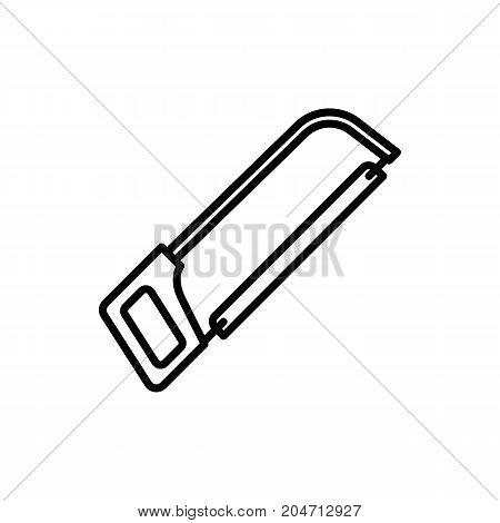 Thin Line Hacksaw Icon