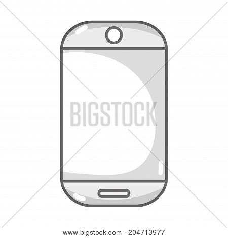 grayscale technology smartphone electronic to call and speak vector illustration