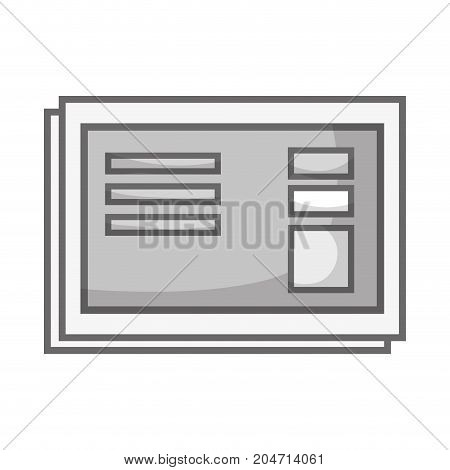 grayscale business document with company information design vector illustration