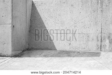Shadow Cowers Corner Of Gray Stone Walls