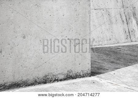 Empty Abstract Concrete Interior Fragment