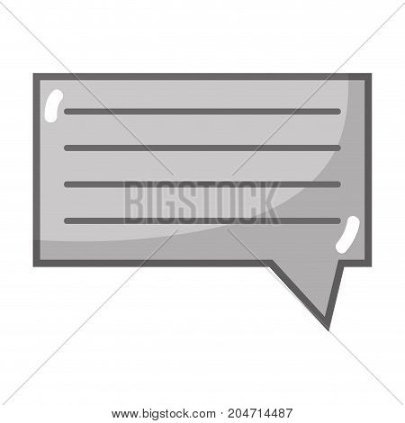 grayscale chat bubble graphic text message vector illustration