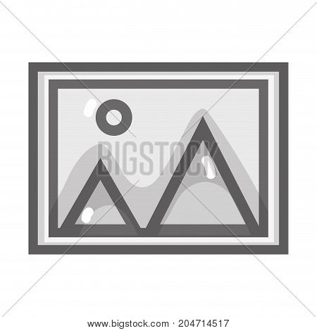 grayscale nice frame picture art design vector illustration