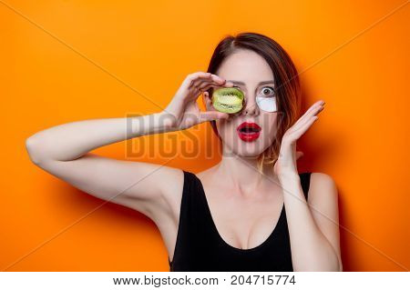 Woman Using Eye Patch For Her Eyes