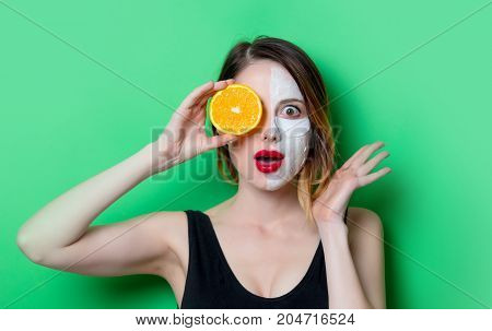 Woman Using Eye Patch For Her Eyes And Mask