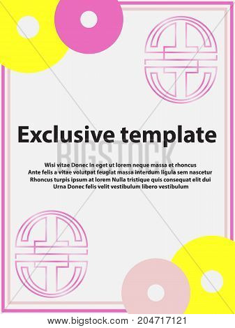Vector Abstract Design Banner. Exclusive Web Template