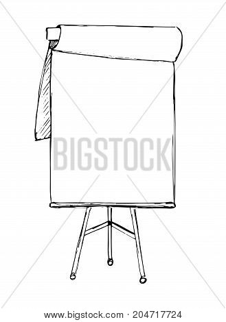 Flip chart isolated on white background. Sketch. Vector