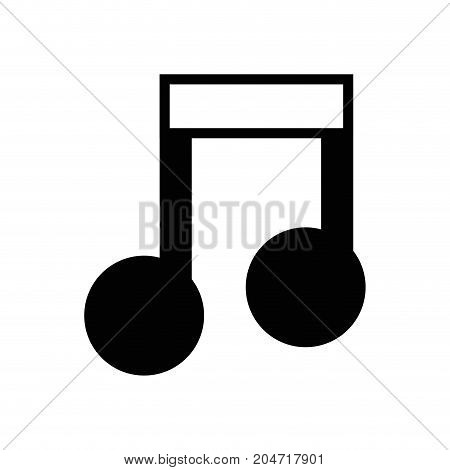 contour musical sign note to rhythm tone vector illustration