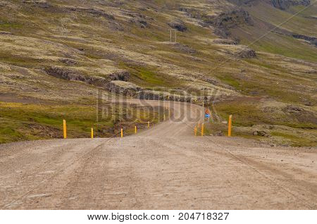 Oxi Mountain Road In East Iceland