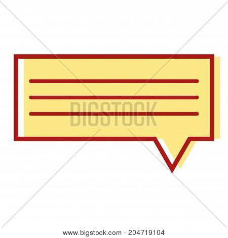 chat bubble graphic text message vector illustration