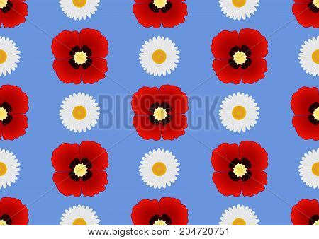 Floral seamless pattern. Fine texture with flowers. Vector Illustration. EPS10