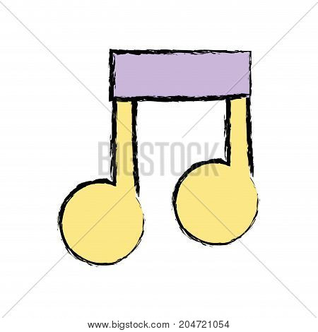 musical sign note to rhythm tone vector illustration