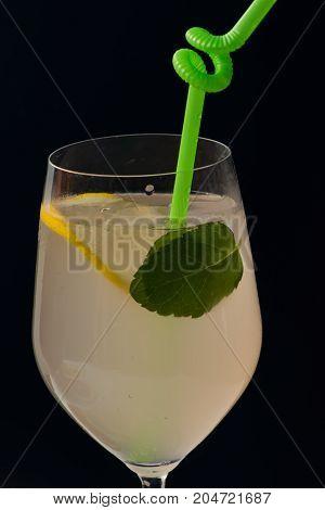 Cocktail On Black Background.