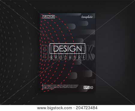 Brochure Cover Design Cards Isolated. Dynamic fashion flat design. Poster, banner, flyer, poster, business card and other your projects. Vector Illustration.