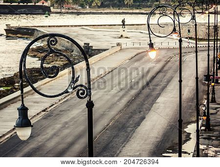 Cuba, Havana, Embankment Malecon, Fascinating Cloudscape, Skyline, Dawn
