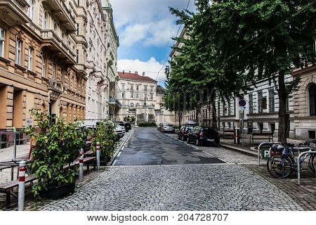 A quiet street in the Innere Stadt of Vienna
