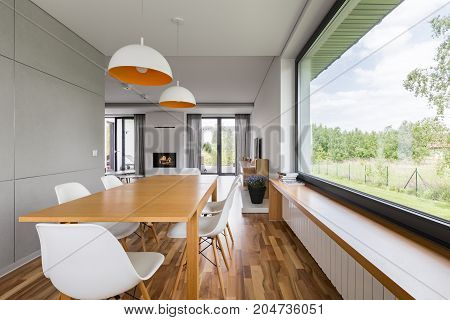 Dining Room With Big Window