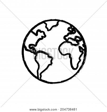 figure nice earth planet and natural ecology vector illustration