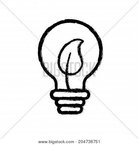 figure bulb with leaf inside to ecological symbol vector illustration