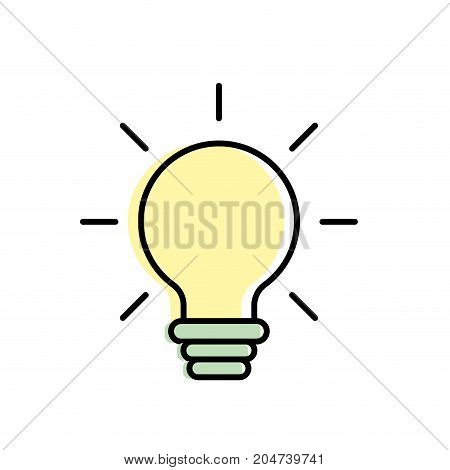 nice bulb idea to create and invent vector illustration