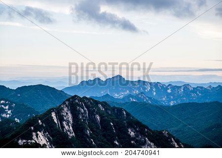 Mountains, Moonkyung province and Woraksan National Park, South Korea