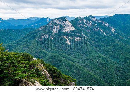 Mountains of Moonkyung Province and Woraksan National Park, South Korea