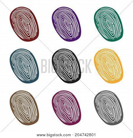 Fingerprint icon in black style isolated on white background. Crime symbol vector illustration.