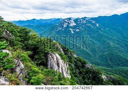 Mountains of Moonkyung and Woraksan National Park, South Korea