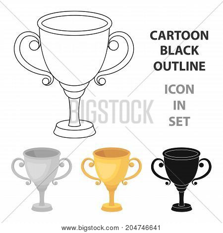 Gold Cup for the first place.The award winner of the racing competition.Awards and trophies single icon in cartoon style vector symbol stock web illustration.