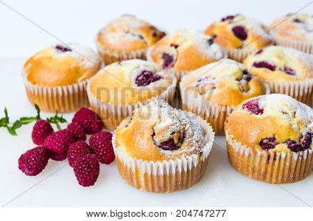 Home Made Raspberry Muffins