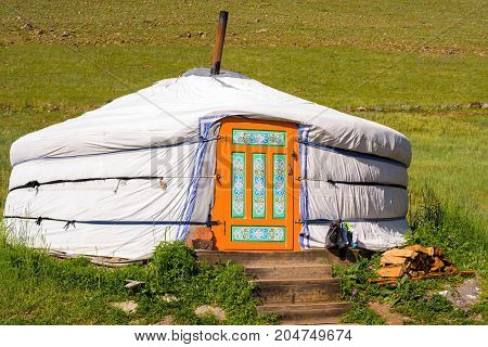 Yurt - a traditional home of nomads in Mongolia