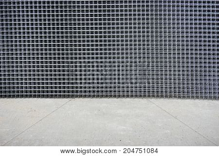 abstract of iron mesh for background used