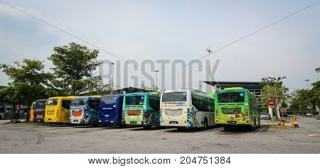 Bus Station In Putrajaya, Malaysia