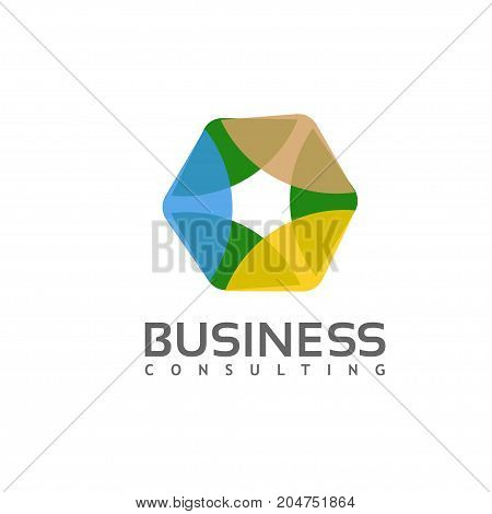 modern and elegant Hexagon technology geometric polygonal logo