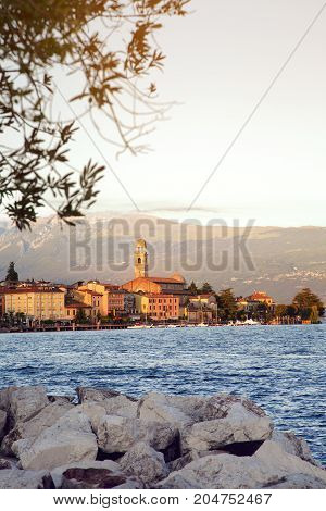City of Salo on the Garda lake in Italy lombardy Europe.