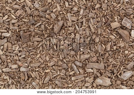 Brown Shredded Wood
