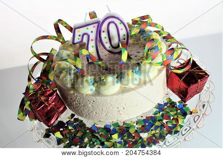 An image of a birthday cake - various figures