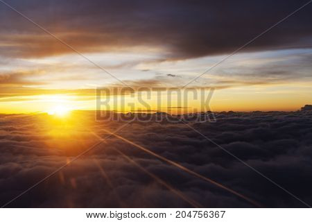 Flight Cloudy Sunrise