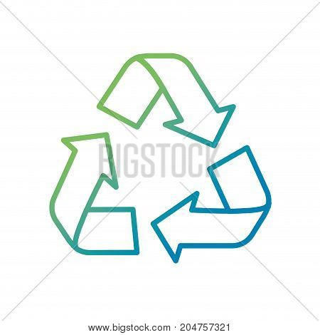 line pretty environment symbol to recycle reduce and reuse vector illustration