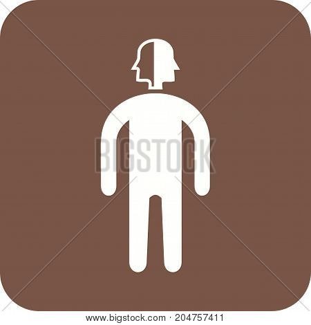 Face, profile, mark icon vector image. Can also be used for Personality Traits. Suitable for mobile apps, web apps and print media.
