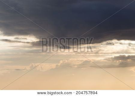 beautiful sky background with clouds at sunset