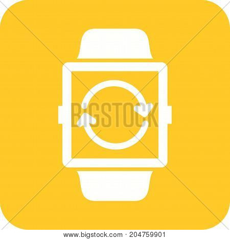Update, watch, clock icon vector image. Can also be used for Smart Watch. Suitable for mobile apps, web apps and print media.