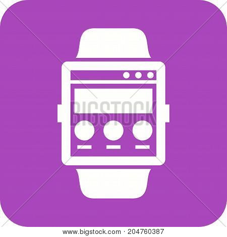 Web, internet, page icon vector image. Can also be used for Smart Watch. Suitable for use on web apps, mobile apps and print media.