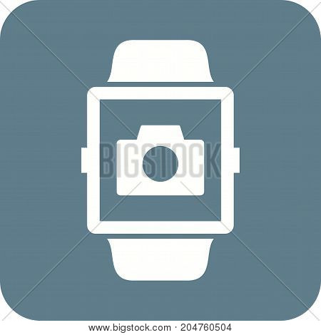 Camera, app, smart icon vector image. Can also be used for Smart Watch. Suitable for mobile apps, web apps and print media.