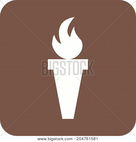 Cave, torch, flame icon vector image. Can also be used for Pirate. Suitable for use on web apps, mobile apps and print media.