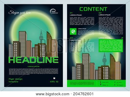Vector Flyer, Corporate Business, Annual Report, Brochure Design And Cover Presentation With Cyan Ci