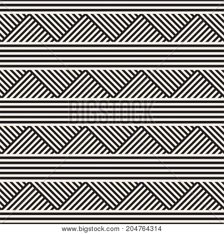 Repeating Slanted Stripes Modern Texture. Simple Regular Background. Monochrome Geometric Seamless Pattern.